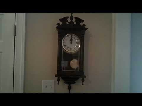 Vollmond Battery Operated Westminster Chime Wall Clock Doovi
