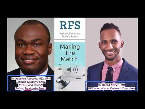 SIR-RFS Webinar 5/26/20: Navigating The Match As An IMG: An Interview With Dr. Ademola Adeseye