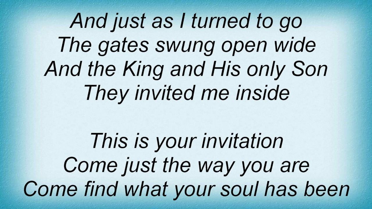 Steven curtis chapman the invitation lyrics youtube steven curtis chapman the invitation lyrics stopboris Gallery