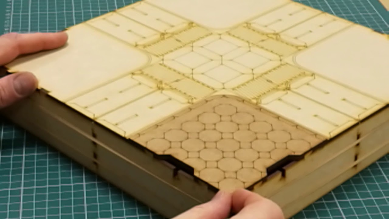 10mm Modular Terrain for Sci Fi and modern Wargames by Uncertain Scenery