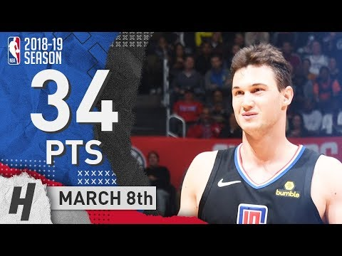Danilo Gallinari Full Highlights Clippers vs Thunder 2019.03.08 - 34 Pts, 2 Ast, 6 Rebounds!