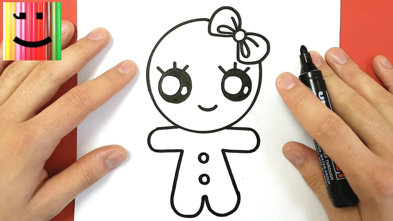 Comment dessiner une fille pain pice kawaii youtube - Dessin zebre facile ...