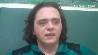 Mayfield heavyweight Kyle Ross talks about his match-clinching pin against Kenston on Thursday.