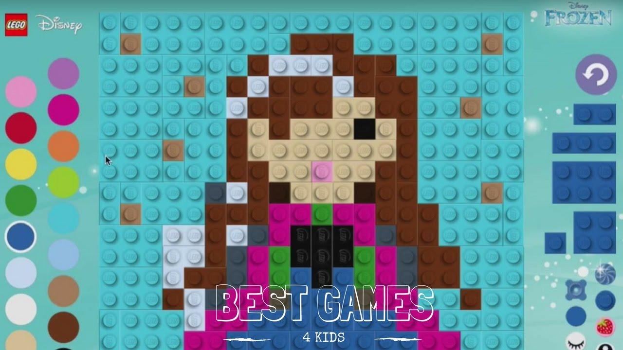 Mosaic Game | LEGO Disney Frozen - Anna Princess [Best Game 4 Kids]