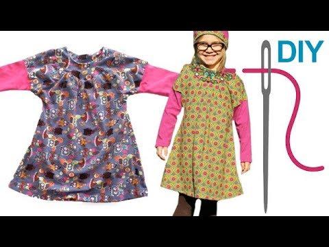 DIY Kleid nähen für Anfänger – Kinderkleid mit eingesetzten Ärmeln ...