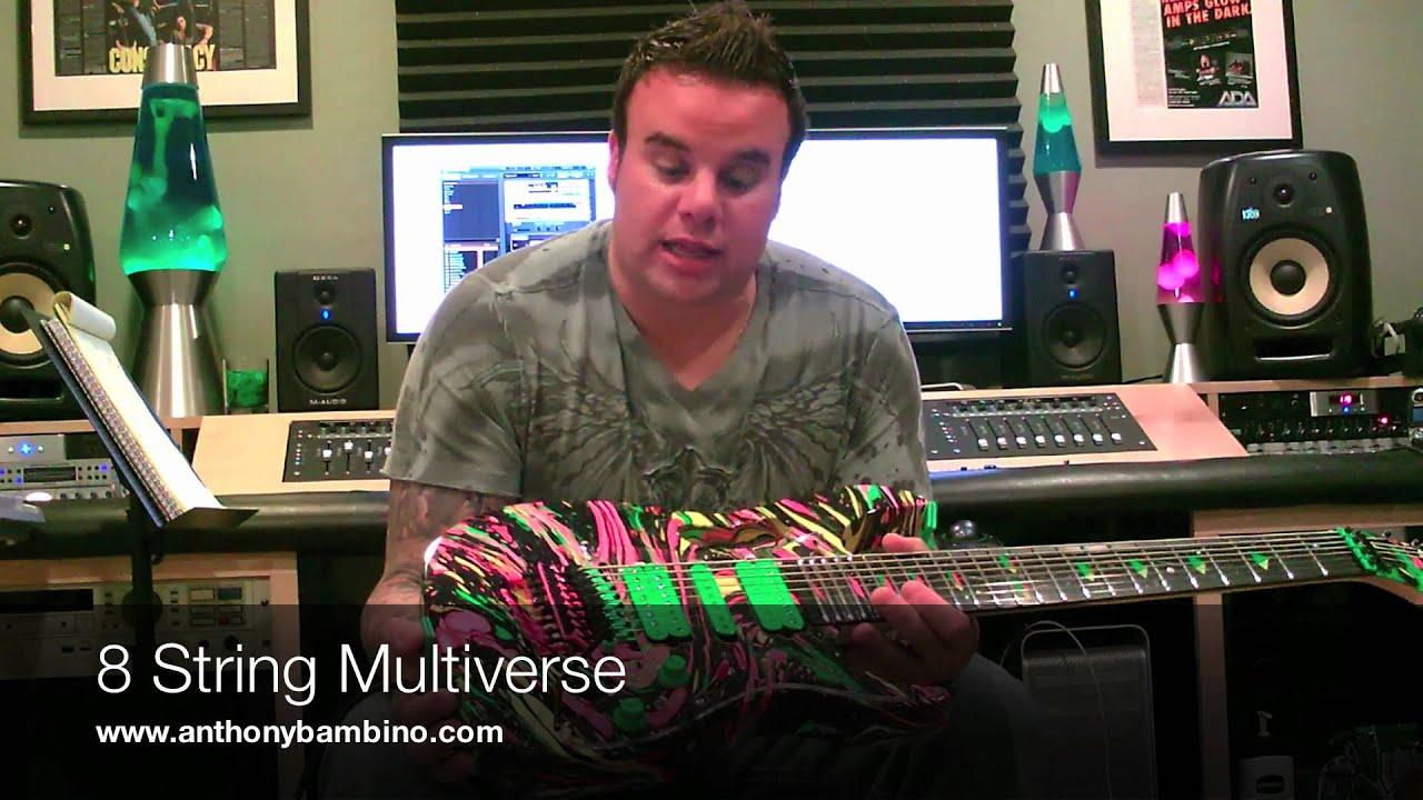 anthony bambino 8 string multiverse ibanez demonstration youtube