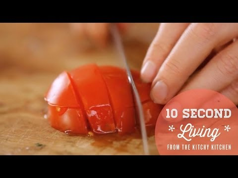 How to Dice Tomatoes // 10 Second Living