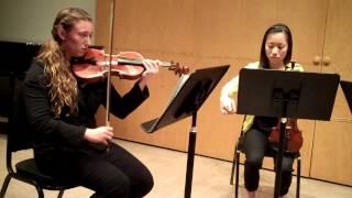 String Quartet in F Major, op 3, #5; Joseph Haydn (Presto, Andante cantabile, Scherzando)
