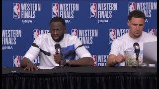 Klay Thompson & Draymond Green Postgame Interview - Game 1   Warriors vs Rockets   2018 Playoffs