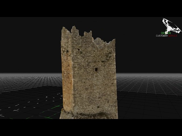 resti del castello di pescina ricostruzione 3D in fotogrammetria aerea