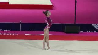 Olga Astafeva / Астафьева Ольга (RUS) - Floor - 2018 European Championships (Junior)