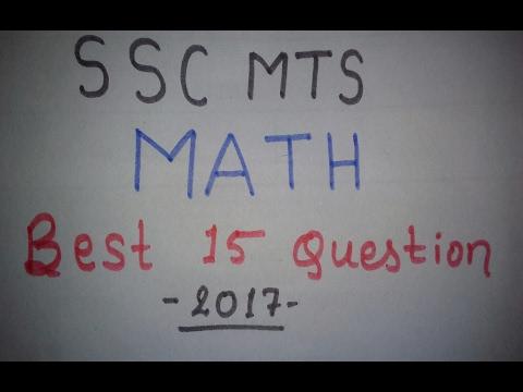 SSC MTS :: MATH :: Best Selected Question (Set-1)