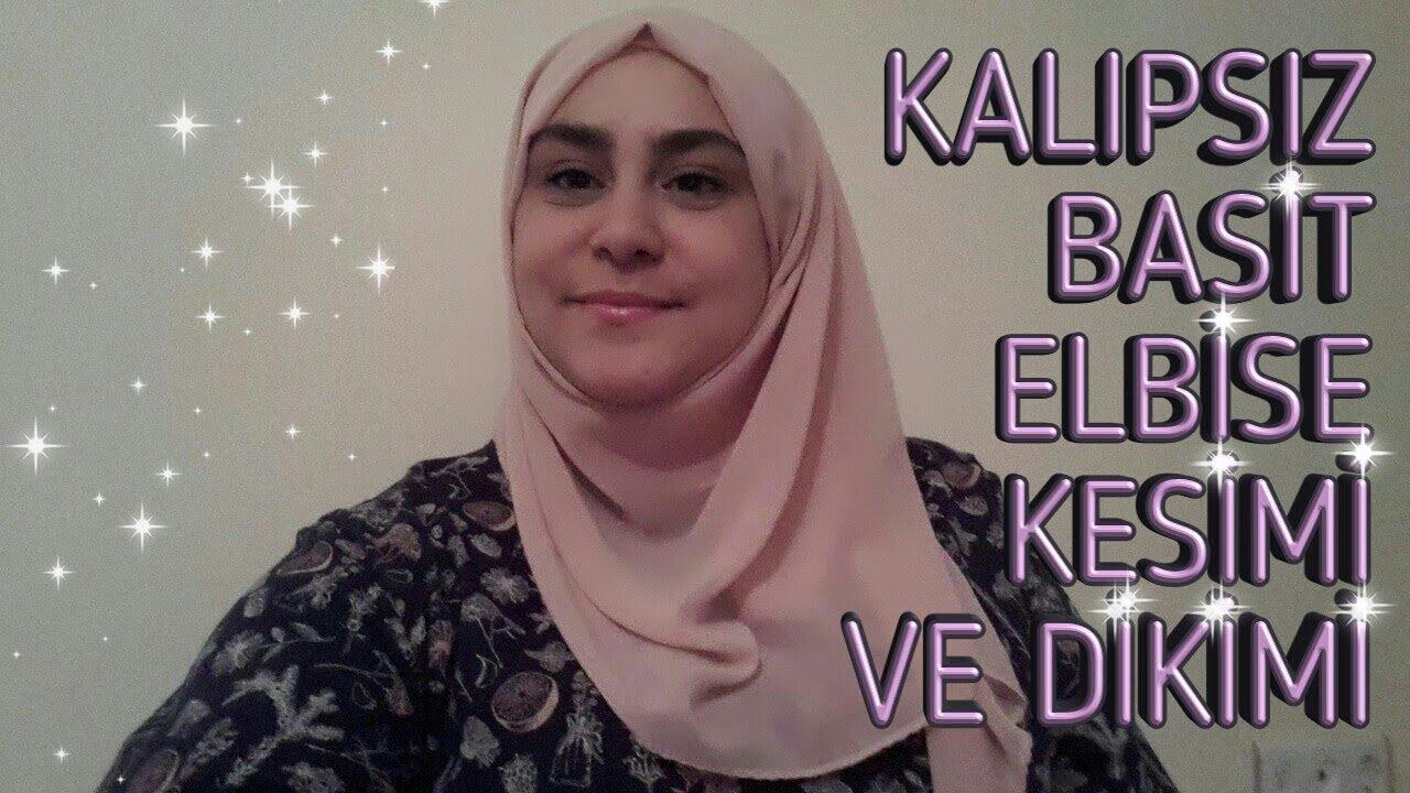 Kalipsiz Basit Elbise Kesimi Ve Dikimi Youtube