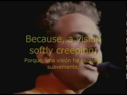EL SONIDO DEL SILENCIO. Subtitulada en Ingles-Español.PAUL SIMON & ART GARFUNKEL #1