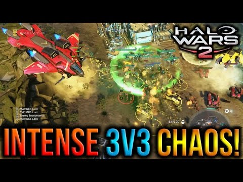 Halo Wars 2 - Intense 3v3 Chaos! :O