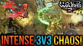 Halo Wars 2 - Intense 3v3 Chaos! :O