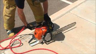 How to Hoist Firefighter Tools