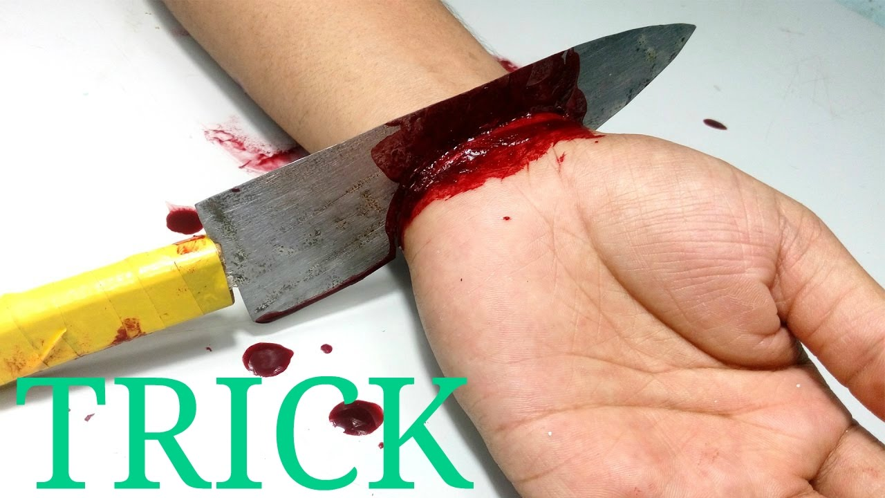 how to cut hand for prank cutting hand magic trick hand cut