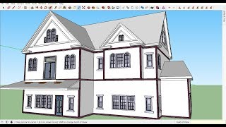 Realistic Victorian House with SketchUp part 1