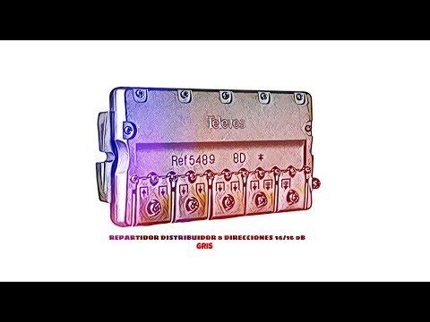 Video de Repartidor distribuidor 8 direcciones 14/16 dB  Gris