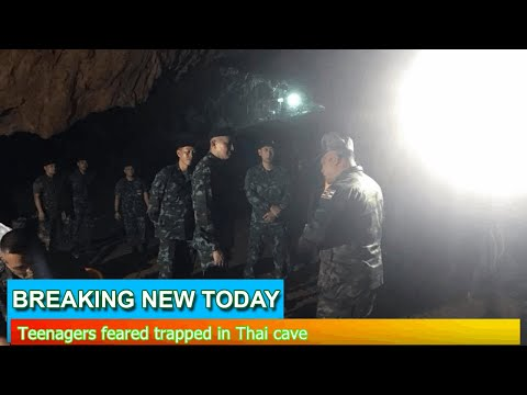 Breaking News - Teenagers feared trapped in Thai cave