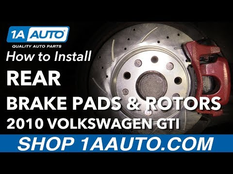 How to Replace Rear Brakes 06-13 Volkswagen GTI