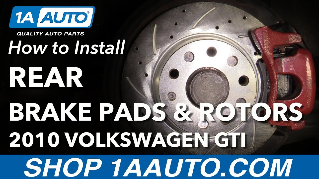 How To Replace Rear Brakes 06 13 Volkswagen Gti Youtube