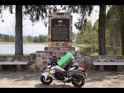 Honda grom adventure in the north shore of minnesota youtube for Honda north shore
