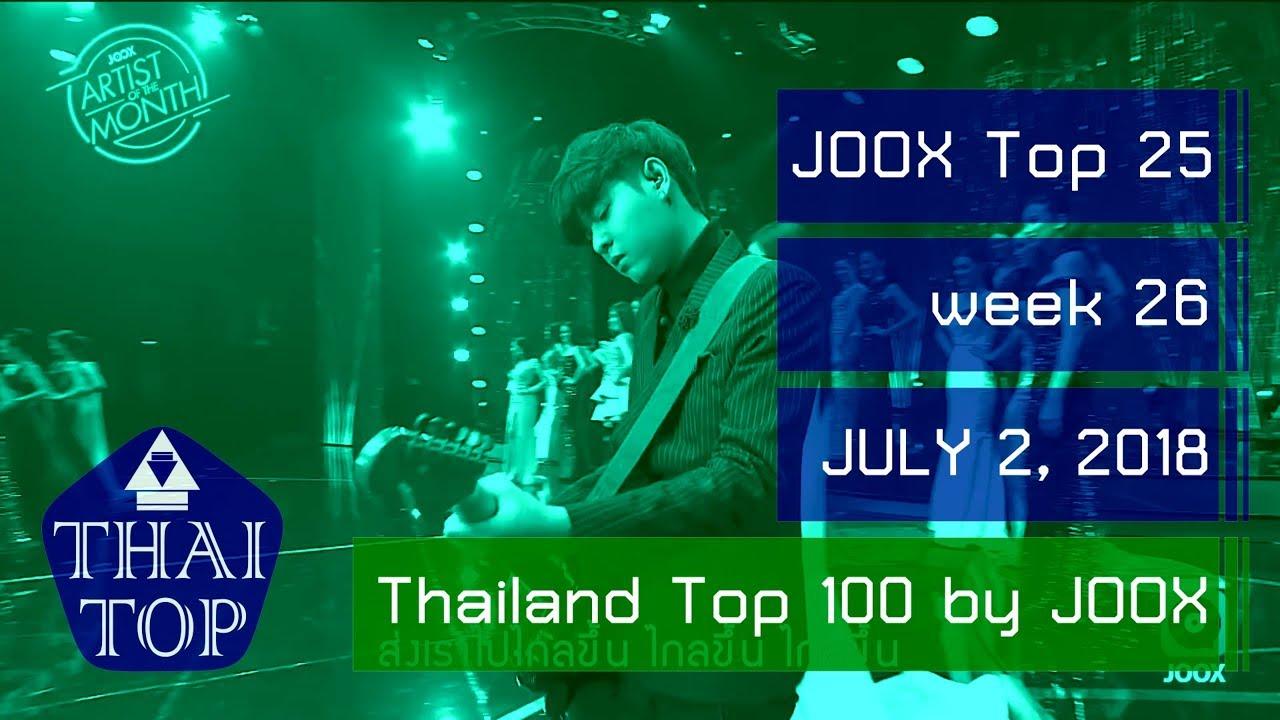 JOOX Thai Top 25 (สัปดาห์/week 26) (2 กรกฎาคม 2561) (July 2, 2018)