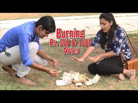 Burning Rs.500 & Rs.1000 Notes in Public   Prank - Part 1   THF Ab Mauj Legi Dilli  