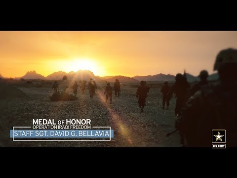 Medal of Honor recipient Staff Sgt. David G. Bellavia's speech at his induction into the Pentagon's Hall of Heroes, June, 26, 2019, for conspicuous gallantry in November 2004 during Operation Phantom Fury in Fallujah, Iraq.Learn more at www.army.mil/medalofhonor/bellavia. #Soldier4Life #ServeWithHonor #MedalofHonor #Ready2FightAbout U.S. Army: The Army Mission – our purpose – remains constant: To deploy, fight and win our nation's wars by providing ready, prompt and sustained land dominance by Army forces across the full spectrum of conflict as part of the joint force.Connect with U.S. Army online: Web: https://www.army.mil Facebook: https://www.facebook.com/USarmy/ Twitter: https://twitter.com/USArmy Instagram: https://www.instagram.com/usarmy/ Flickr: https://www.flickr.com/photos/soldiersmediacenter