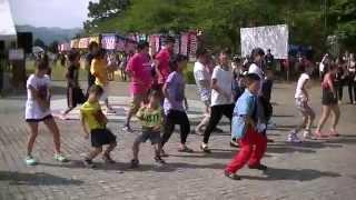 佐野市三大祭りの最後のお祭り「くずう原人まつり」で「佐野秀郷祭り」...