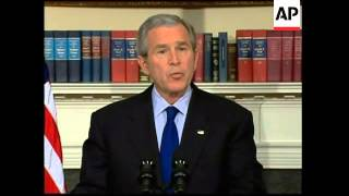 WRAP Bush says he is determined to persevere in Iraq