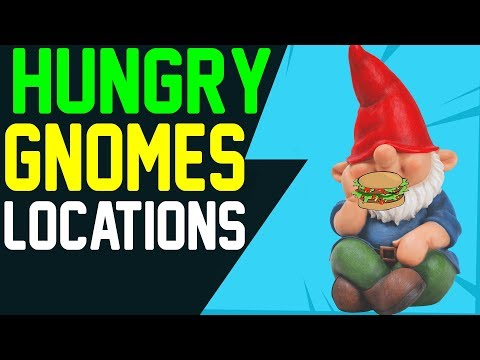 Fortnite ALL HUNGRY GNOME LOCATIONS - ALL 7 HUNGRY GNOMES Battle Royale Weekly Challenge