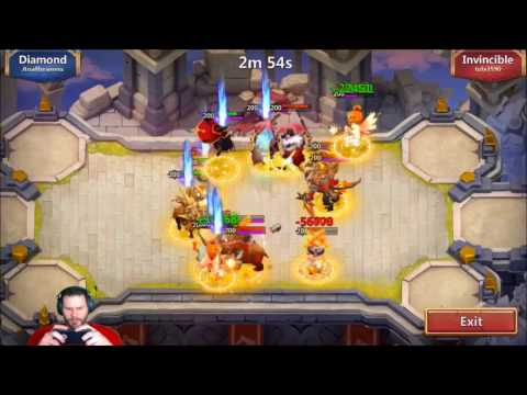 JT's Main Squad Showdown 6 Heros Battles Intense Castle Clash