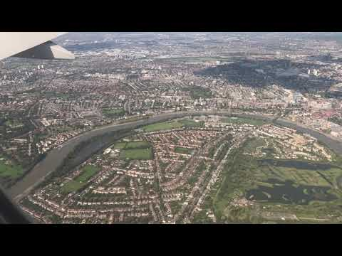 City of London From Above, on Approach to Heathrow