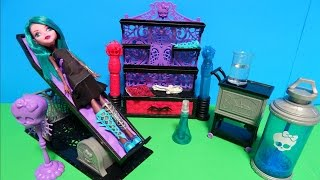Monster High Create a Monster CAM Doll Color Me Creepy Design Chamber Playset Deboxing Toy Review