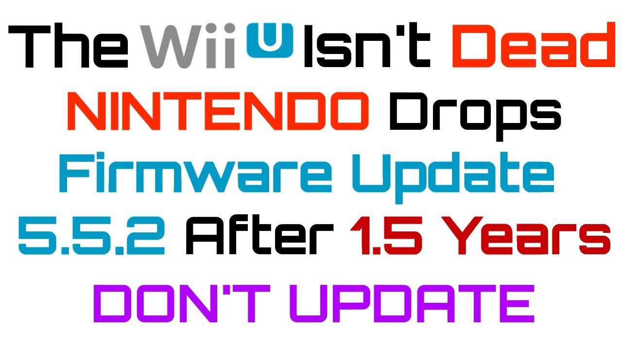PSA] Nintendo Drops WiiU Firmware Update