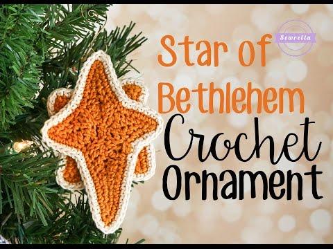 Star of Bethlehem Crochet Christmas Ornament  Sewrella