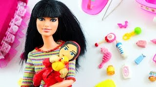 How to Make a TOILET PAPER BABY FOR BARBIE - Easy Doll Crafts