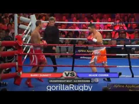 Quade Cooper v Barry Dunnett - Boxing