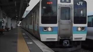 中央本線(中央東線)普通列車・始発駅の松本駅を出発