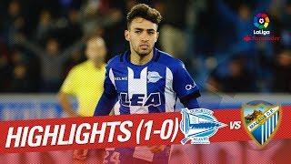 Resumen de Deportivo Alavés vs Málaga CF (1-0)