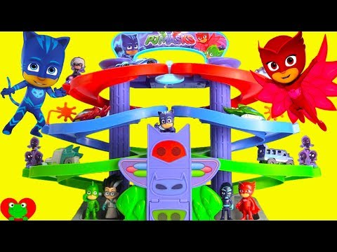 PJ Masks Nighttime Adventures Spiral Playset Race For Surprises