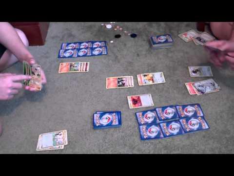 Pokemon Card Battle Fire vs. Fighting