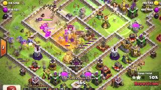 Clash Of Clans ataque Th12-Brujas Boleros Gigantes y máquina de asedio
