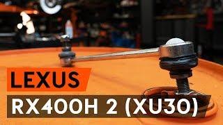 Montering Stabiliseringsstag bak och fram LEXUS RX: videoinstruktioner