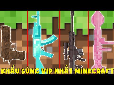 Minecraft, Nhưng Noob Sở Hữu Súng Vip Nhất! T Gaming Có Súng Làm Bằng Kim Cương ??