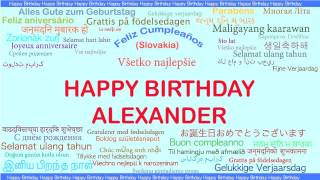 Alexander   Languages Idiomas - Happy Birthday
