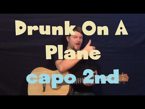Drunk On A Plane (Dierks Bentley) Easy Guitar Lesson How to Play Tutorial